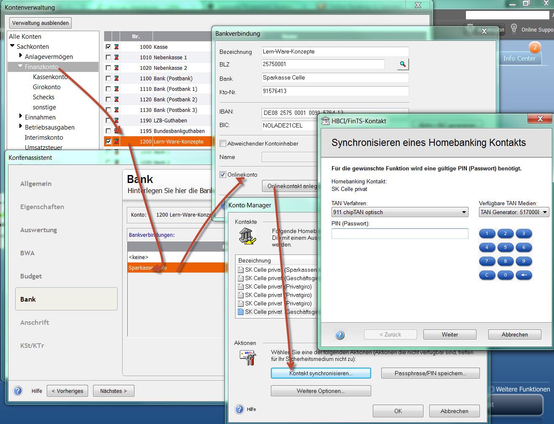 Lexware Online Banking einrichten