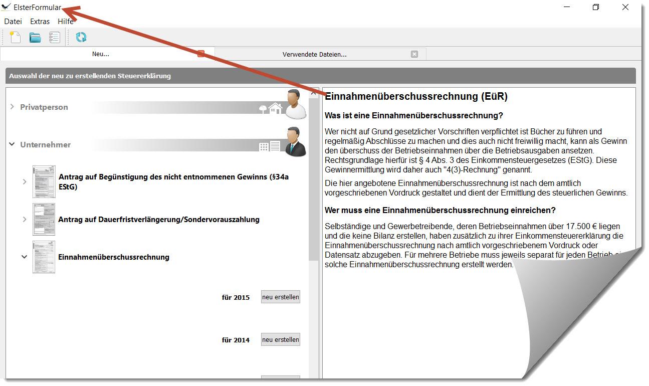 Lexware EÜR: GEWINNERMITTLUNG nach § 4 (3) EStG als Gesamtübersicht mit Wissens-Beiträgen und Lexware-Anleitungen zu den einzelnen Zeilenangaben im steuerrechtlichen FORMULAR auf Seite 1 von 3 für BETRIEBSEINNAHMEN